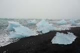 Jokulsarlon_140_08092021 - Closer look at more icebergs washed ashore at Diamond Beach