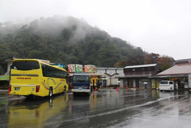 Joren_Falls_004_10162016 - The large car park for the Joren Waterfall, which had a surprising number of tour buses during our rainy visit