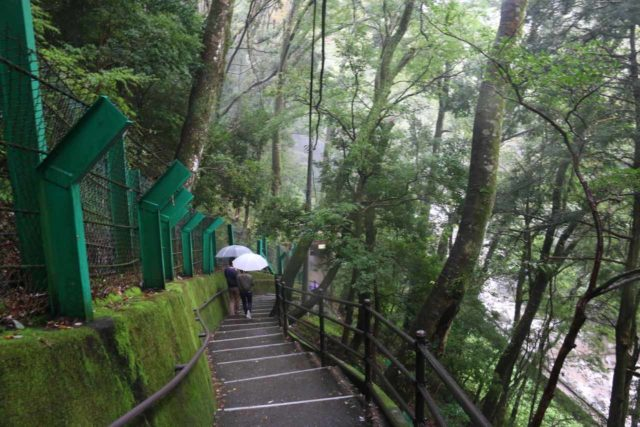 Joren_Falls_014_10162016 - Descending the stepped walkway towards the base of the Joren Waterfall with the Kanogawa rushing down below