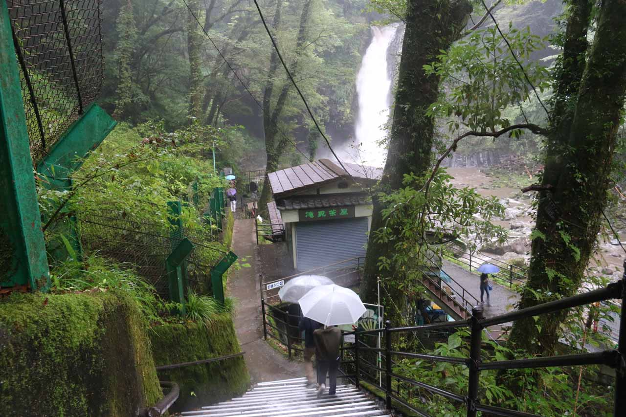 Going down to the bottom of the walking path where we would finally get our unobstructed views of the Joren Waterfall
