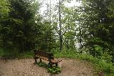 Josefstaler_Waterfall_027_06282018 - A rest bench or lookout along the rundweg to the Josefsthaler Waterfalls though this didn't yield much of a view on this rainy day