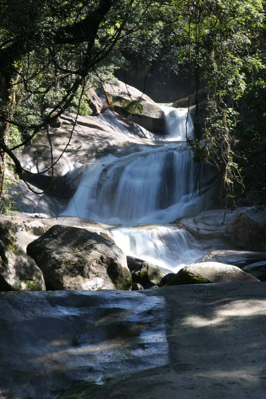 More zoomed in at the middle tiers of Josephine Falls