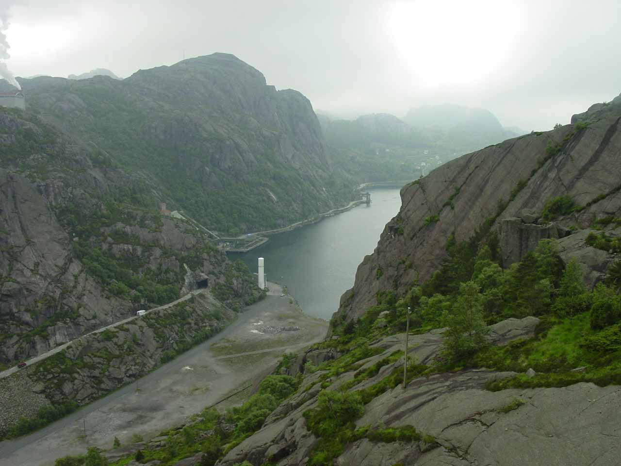 The scenic Jøssingfjorden was nearly a three-hour drive to the west of Kristiansand, but we were very glad to have made the detour because the vertical cliffs were dramatic