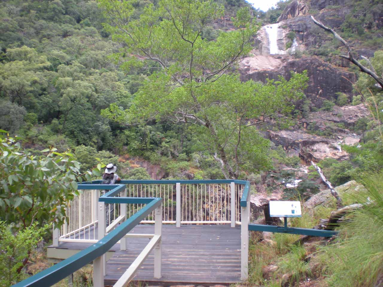 The viewing deck at the end of the track for Jourama Falls