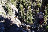 Judd_Falls_123_10162020 - Julie looking down at Judd Falls from the sanctioned lookout