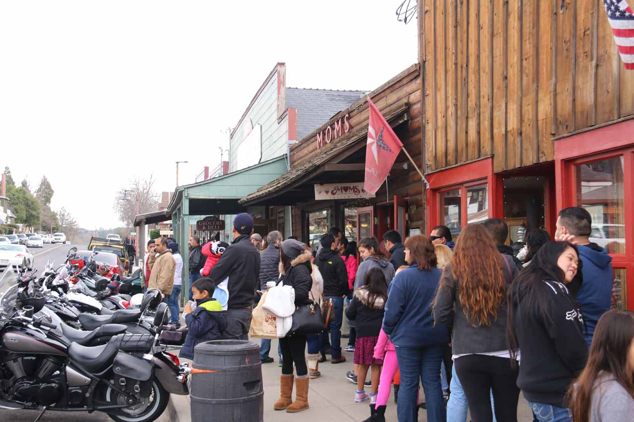Each time we've visited Cedar Creek Falls, we've either spent the night or just visited the charming town of Julian, where the apple pies here are so famous that people stand in long lines for them!