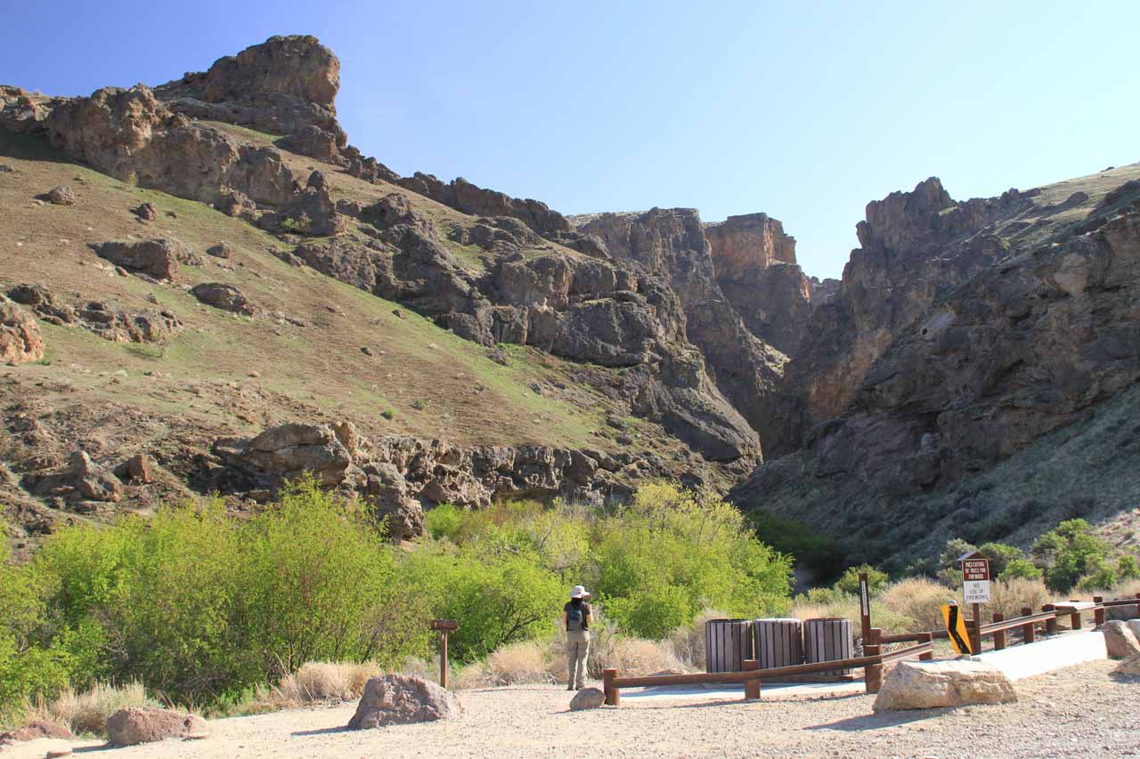 Julie and I finally made it to the mouth of Jump Creek Canyon