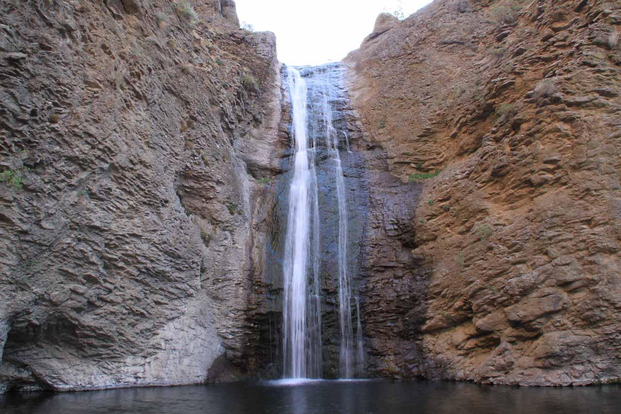 Direct look at Jump Creek Falls