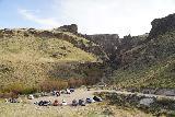 Jump_Creek_Falls_003_04032021 - Looking down at the context of the trailhead parking for Jump Creek Falls
