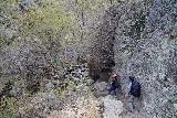 Jump_Creek_Falls_013_04032021 - Dana and Julie descending to the crossing of Jump Creek