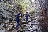 Jump_Creek_Falls_015_04032021 - The crew crossing Jump Creek on the way to Jump Creek Falls