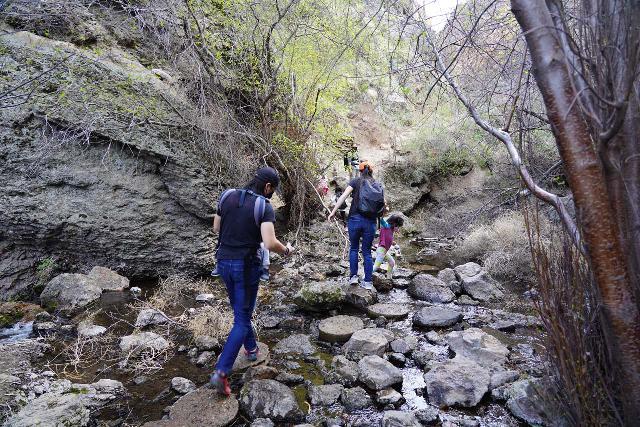 Jump_Creek_Falls_015_04032021 - Traversing the stepping stones as we crossed Jump Creek en route to the base of Jump Creek Falls