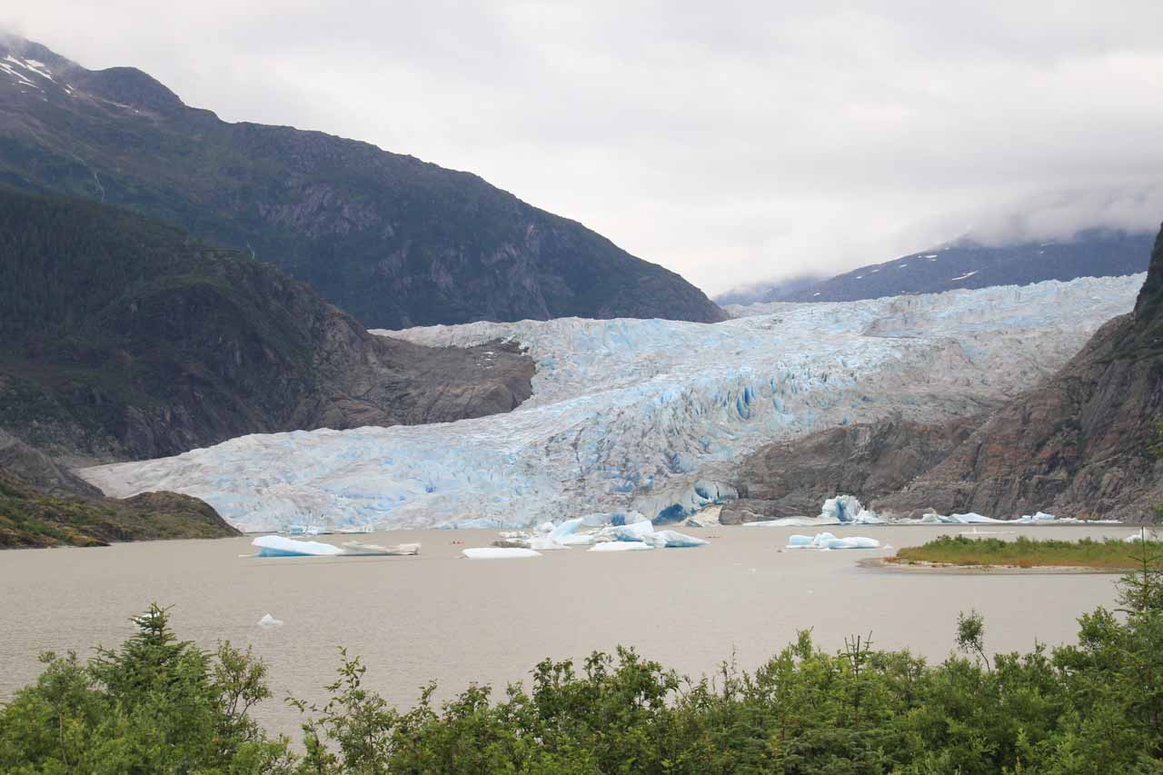Mendenhall Glacier from the observation area