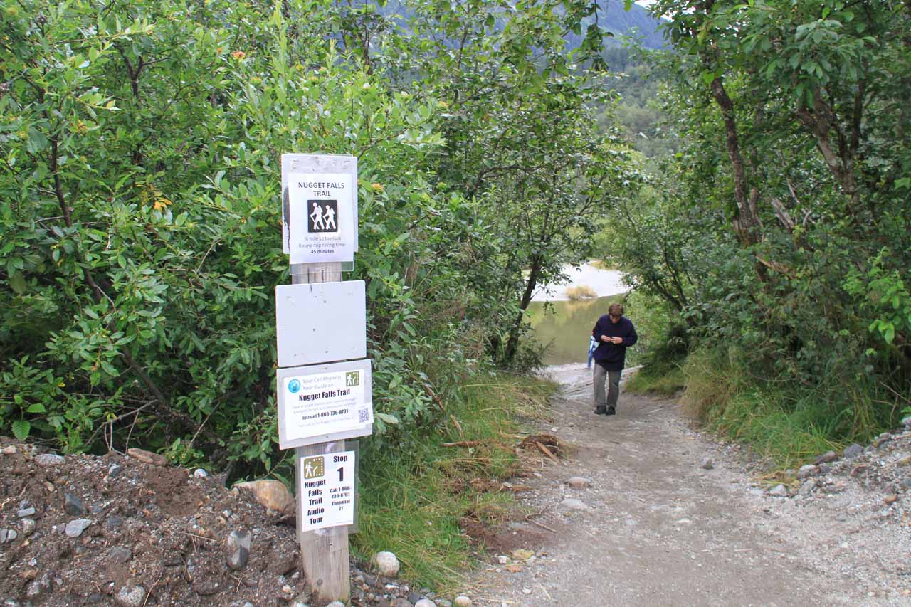 The signposted start of the official trail