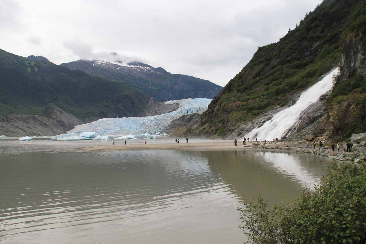 Nugget Falls and Mendenhall Glacier