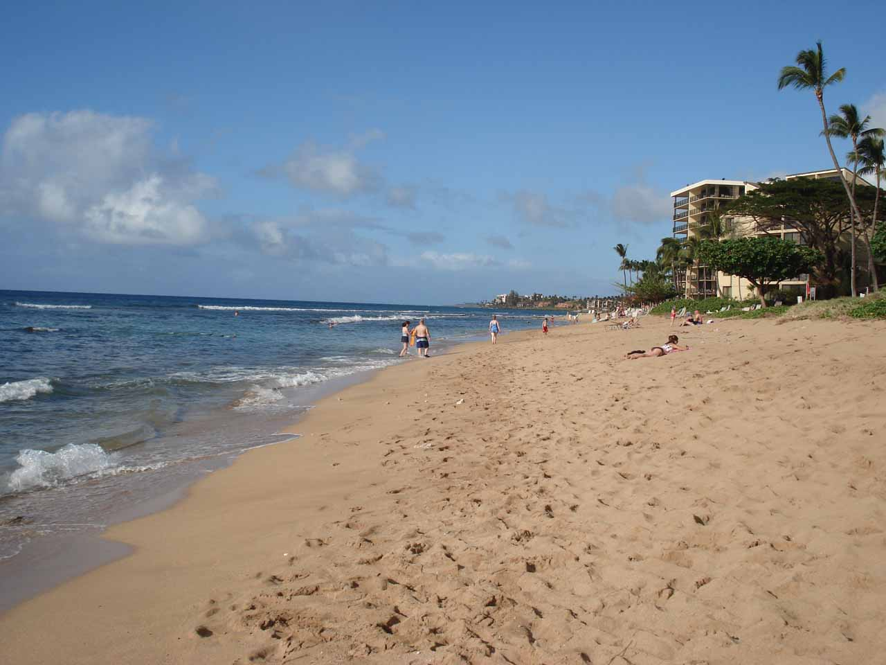 Back on the western side of West Maui at Ka'anapali, the beaches fronting the resorts were easily within reach