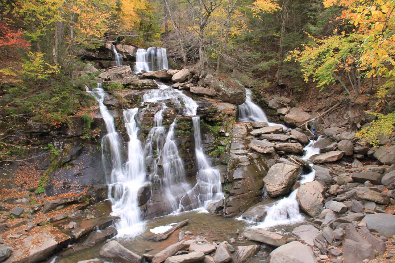 The attractive cascade at the trailhead for Kaaterskill Falls