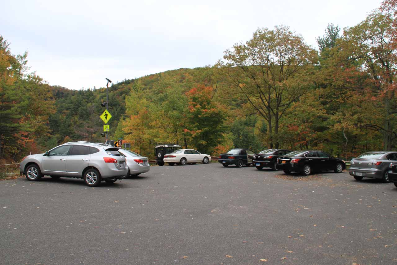 The legitimate car park for Kaaterskill Falls