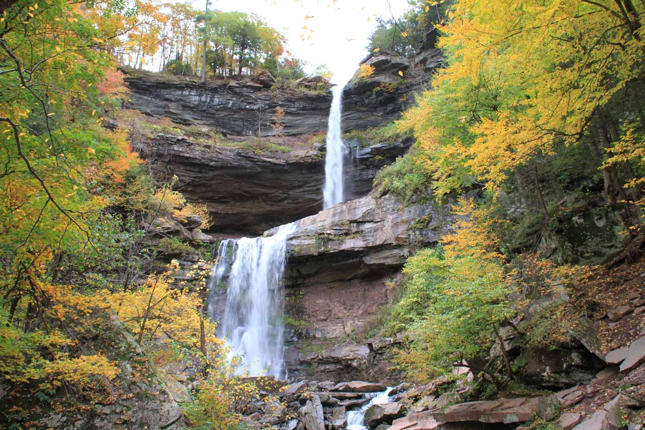 Another look at Kaaterskill Falls surrounded by beautiful Autumn colors
