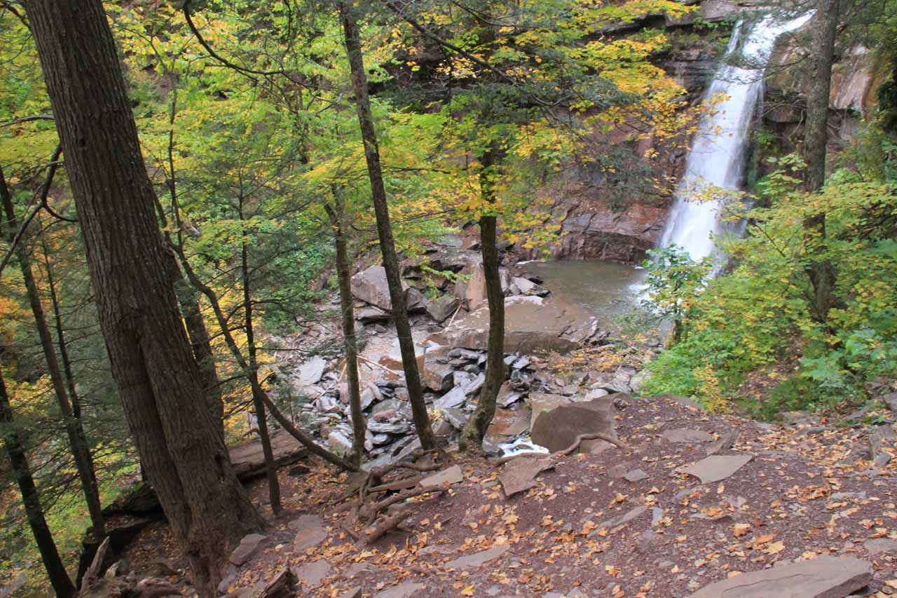 Going up the scramble yielded some pretty unusual views of Kaaterskill Falls