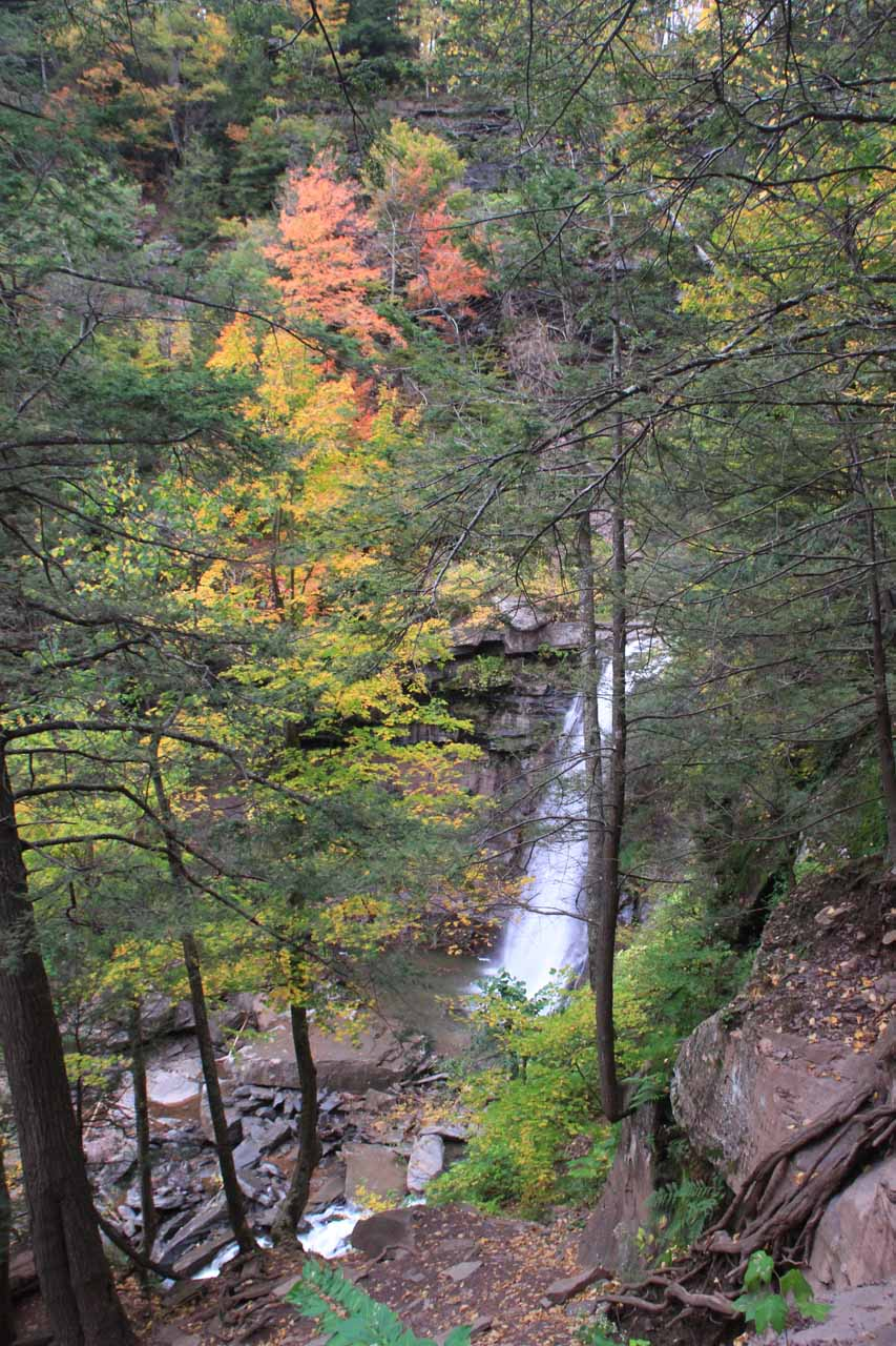 Looking down towards the base of Kaaterskill Falls just to get a sense of perspective on how high I had climbed to this point