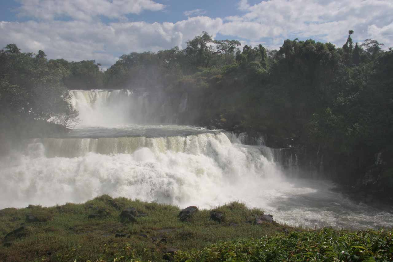 A closer look at the part of Kabwelume Falls that extreme kayakers might have been able to run