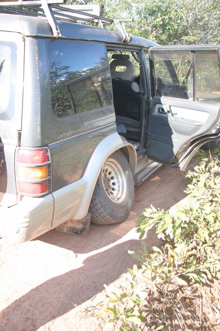 Our disabled Zambian safari vehicle
