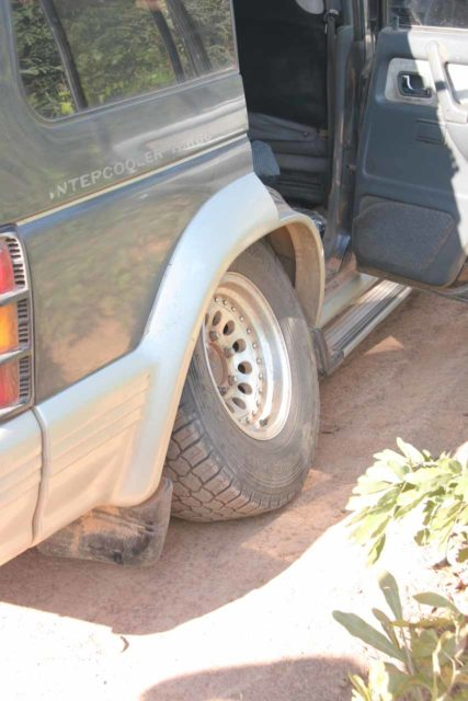 Snapped axel in a remote part of Northern Zambia that had the potential to really ruin a round-the-world trip