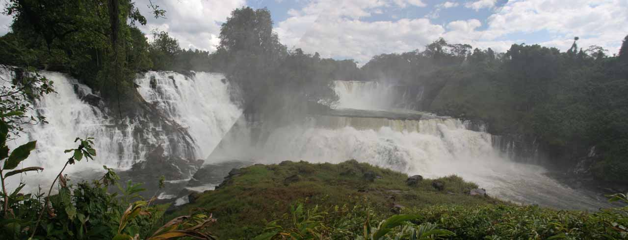 Stitched panorama of the full width of Kabwelume Falls