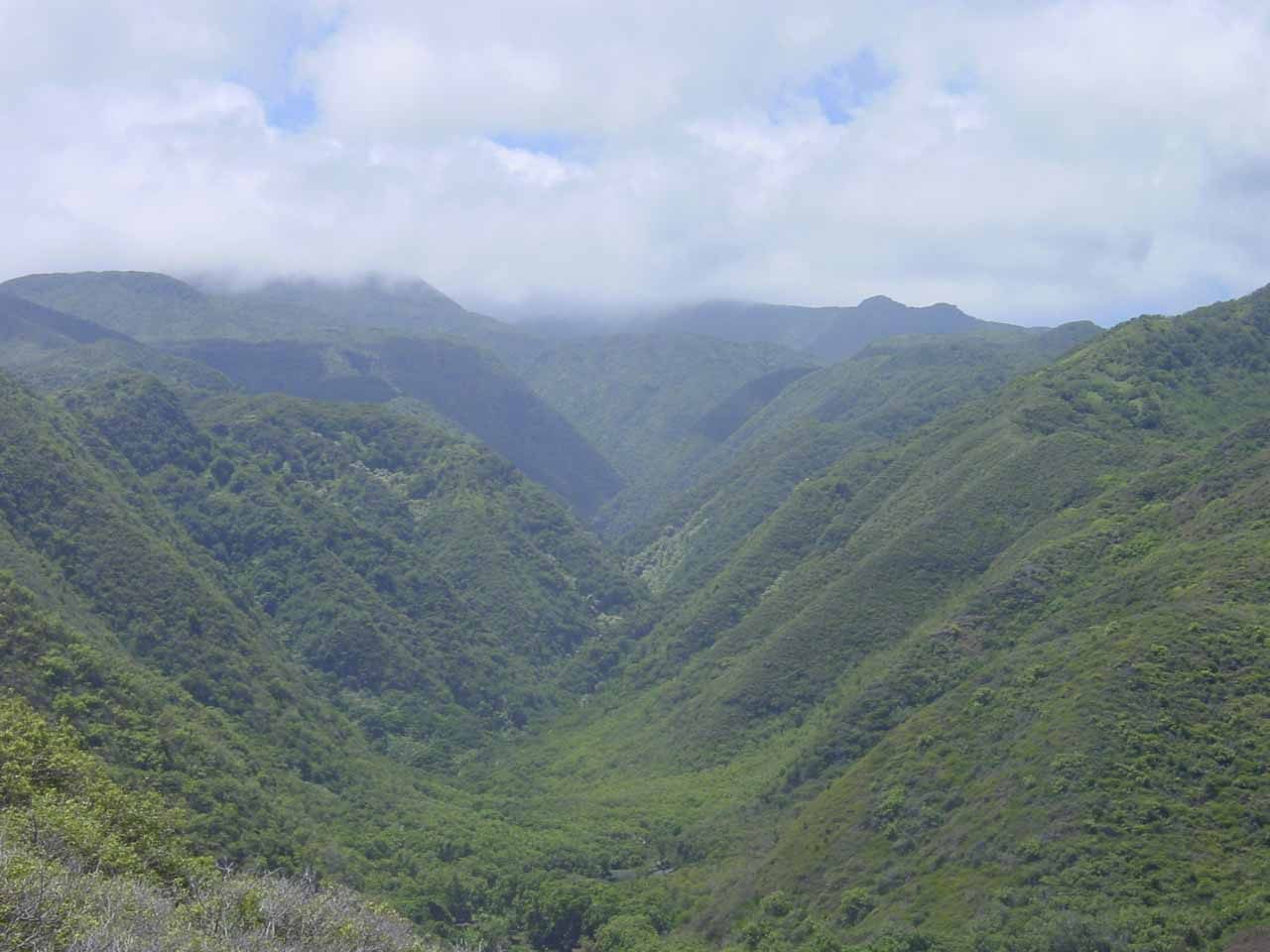 The mouth of Honokohau Valley