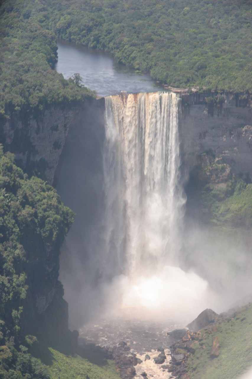 Frontal view of Kaieteur Falls as we were about to land