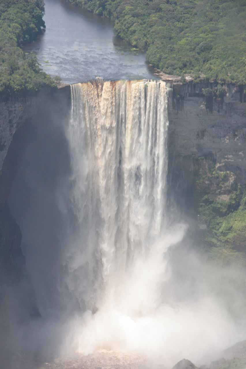 Kaieteur Falls from the air as we were about to land