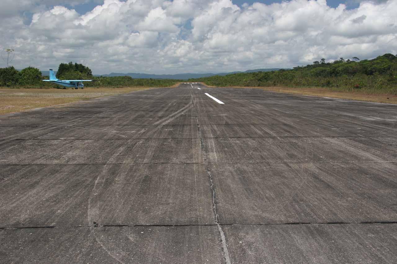 The airstrip above Kaieteur Falls