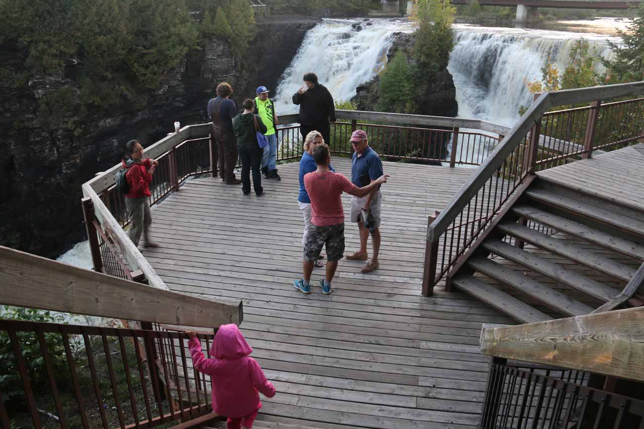 The viewing deck at Kakabeka Falls