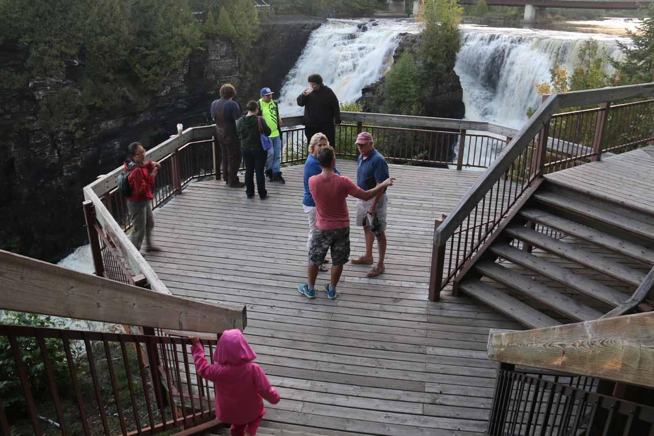 The viewing deck at Kakabeka Falls