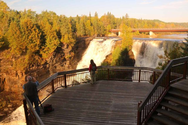 Kakabeka_Falls_102_09272015 - The lookout area for Kakabeka Falls nearest to the large parking lot by the entrance to the park