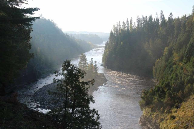 Kakabeka_Falls_128_09272015 - With Kakabeka Falls and Kaministiquia River being some impressively large and forceful, it wasn't surprising to see the deep gorge whose depths they're still contributing to
