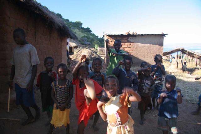 Kalambo_Falls_002_06012008 - Village kids greeting us before we embarked on the hike up to Kalambo Falls