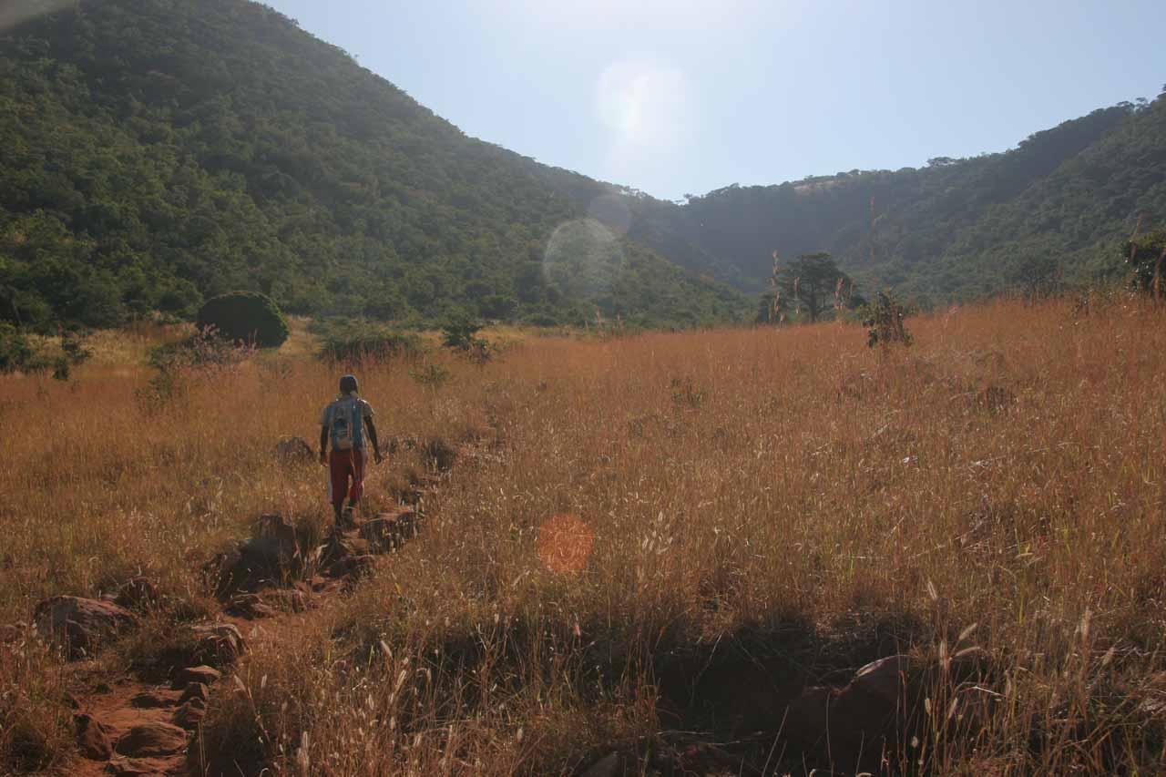 Walking behind the back of the village and up towards Kalambo Falls