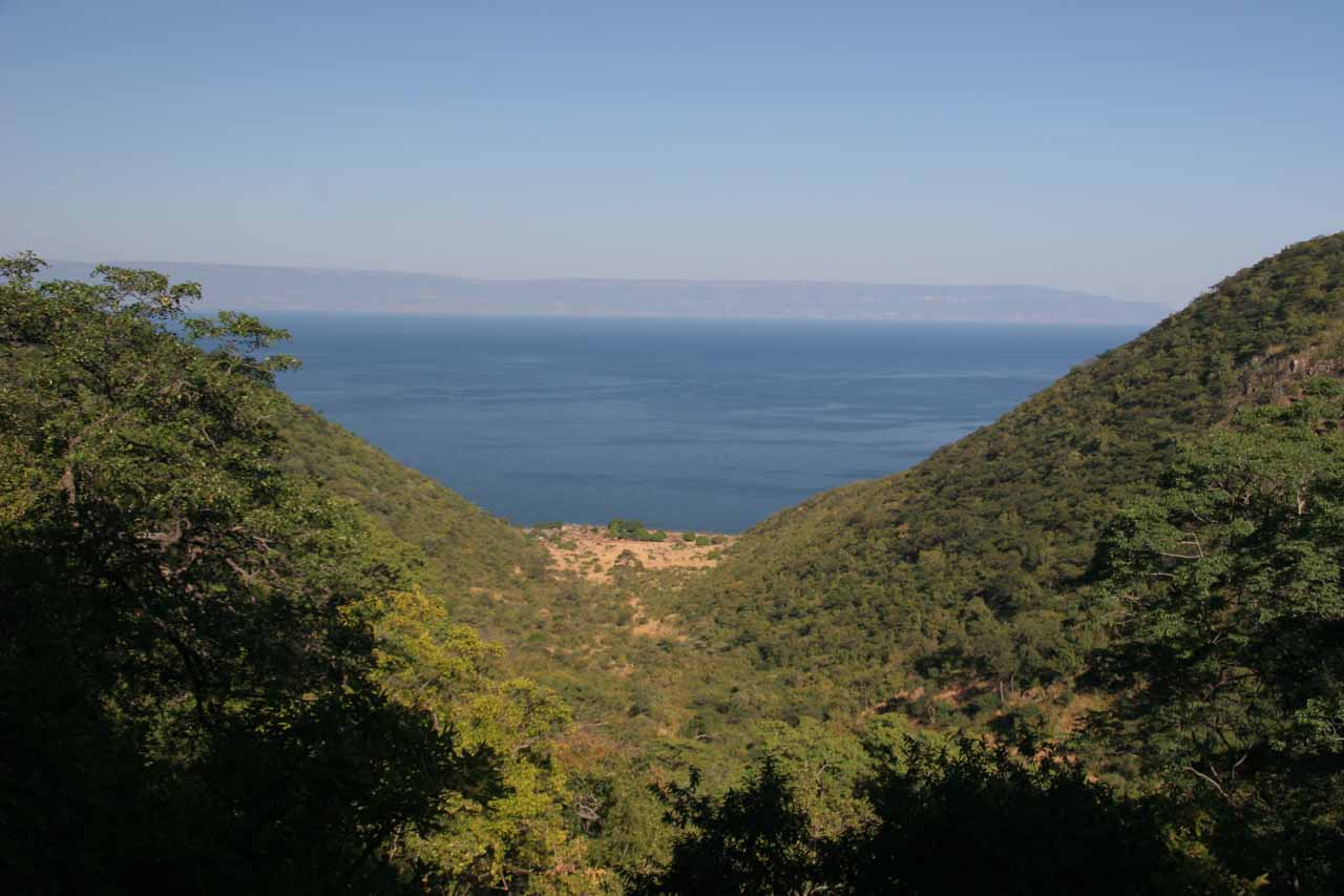 Taking a quick break for a look back towards Lake Tanganyika