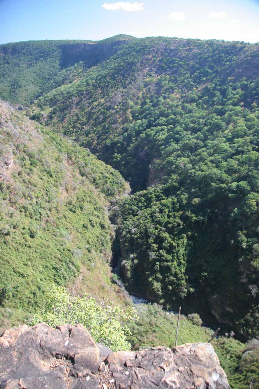 The river defining the Tanzania-Zambia border