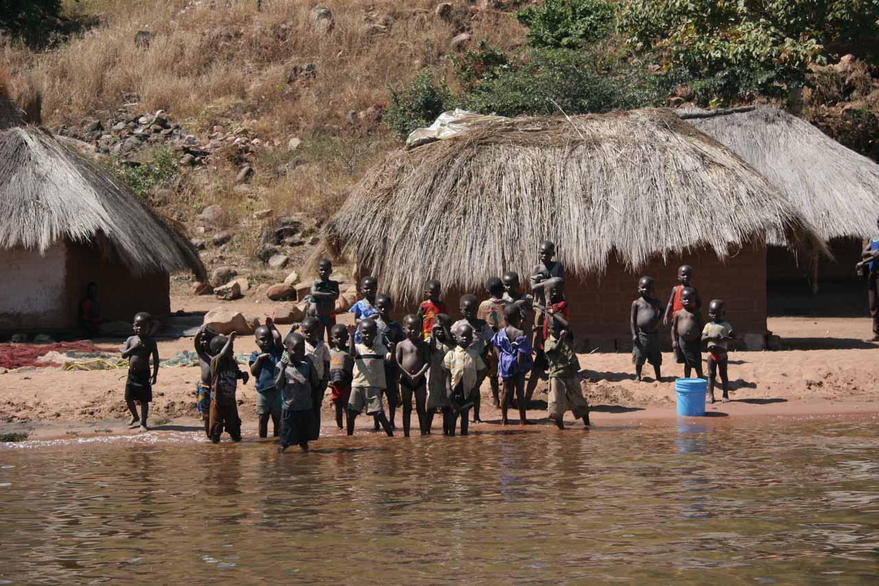 Saying goodbye to the village kids