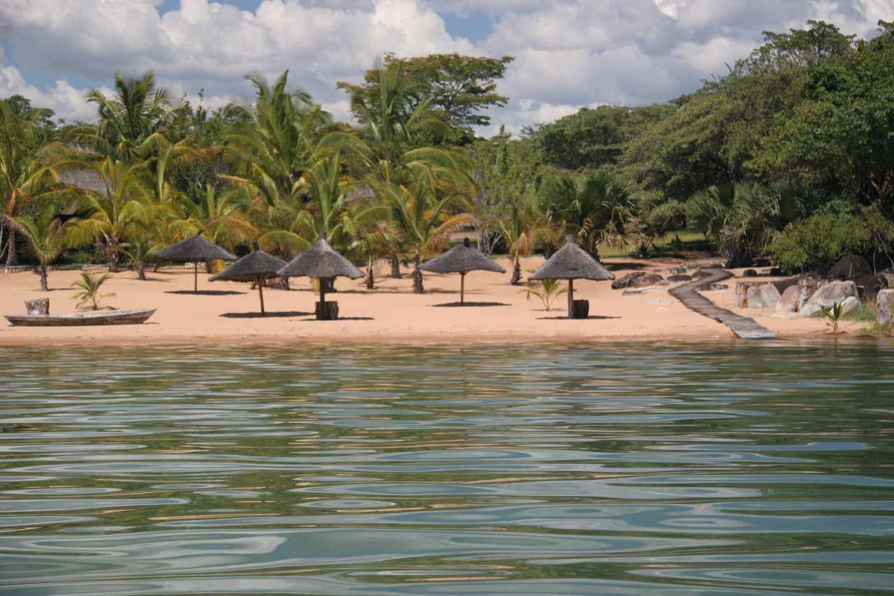 Approaching Isanga Bay