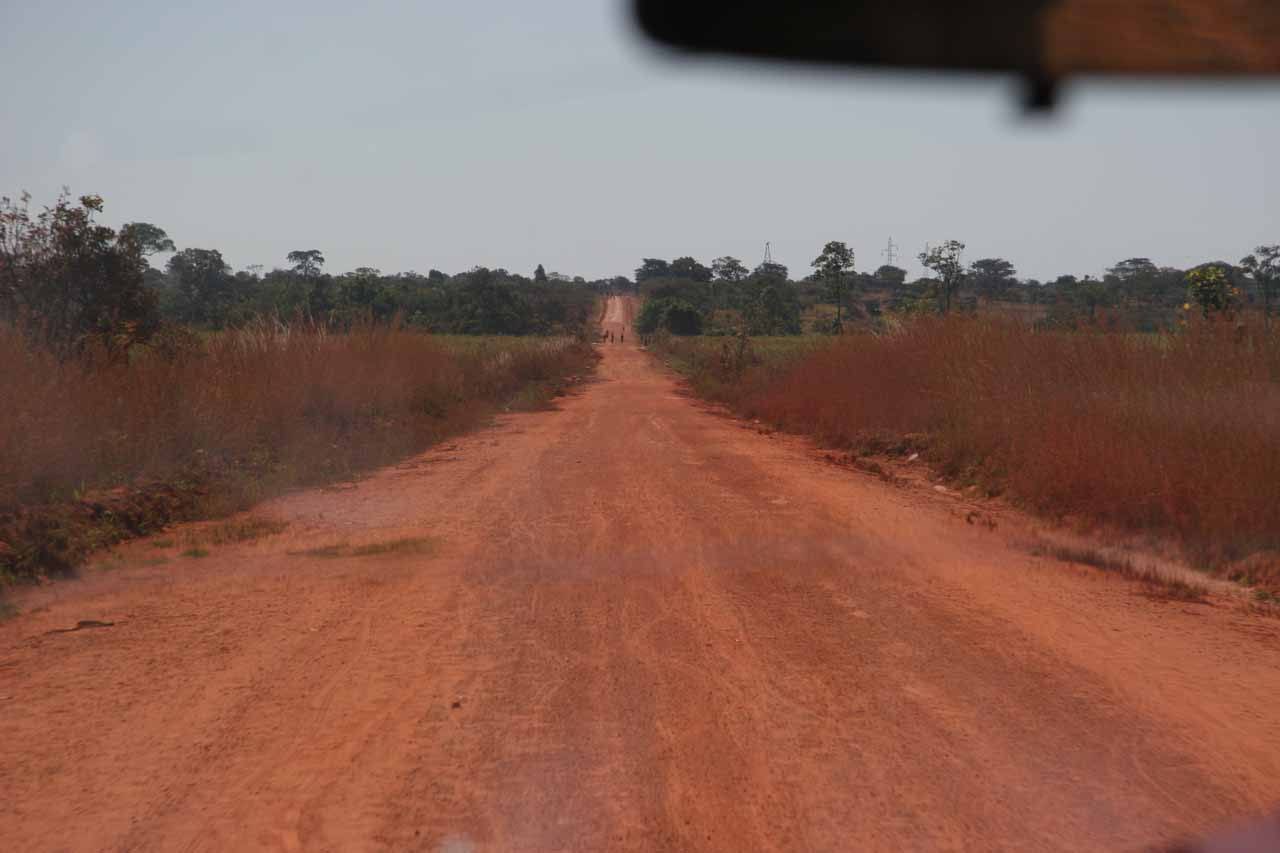 The dusty Kawambwa-Mporokoso Road
