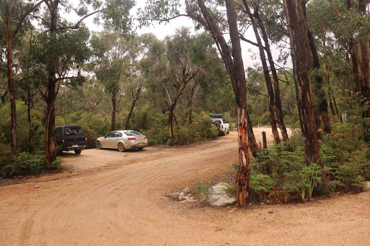 Finally making it to the car park, picnic ground, and campground for Kalymna Falls