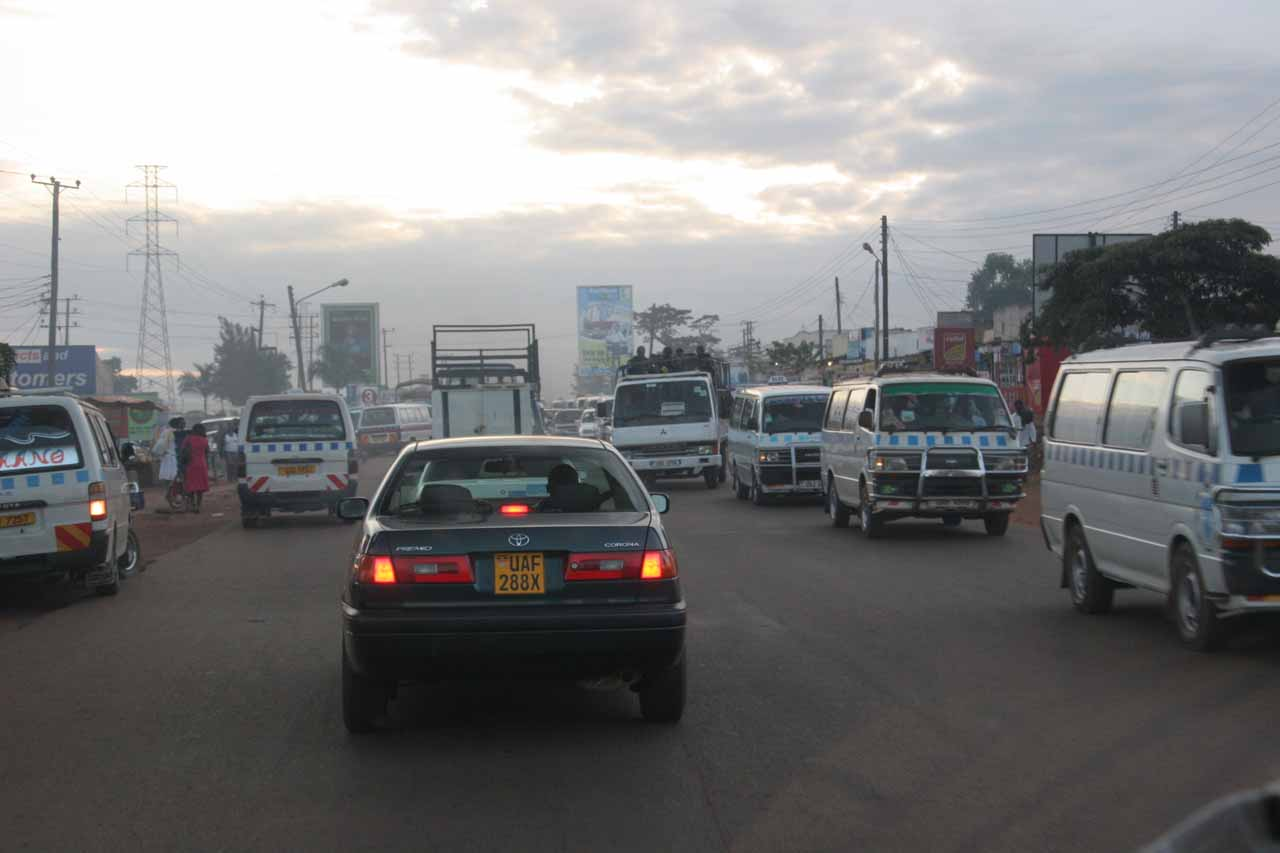Fighting traffic in Kampala