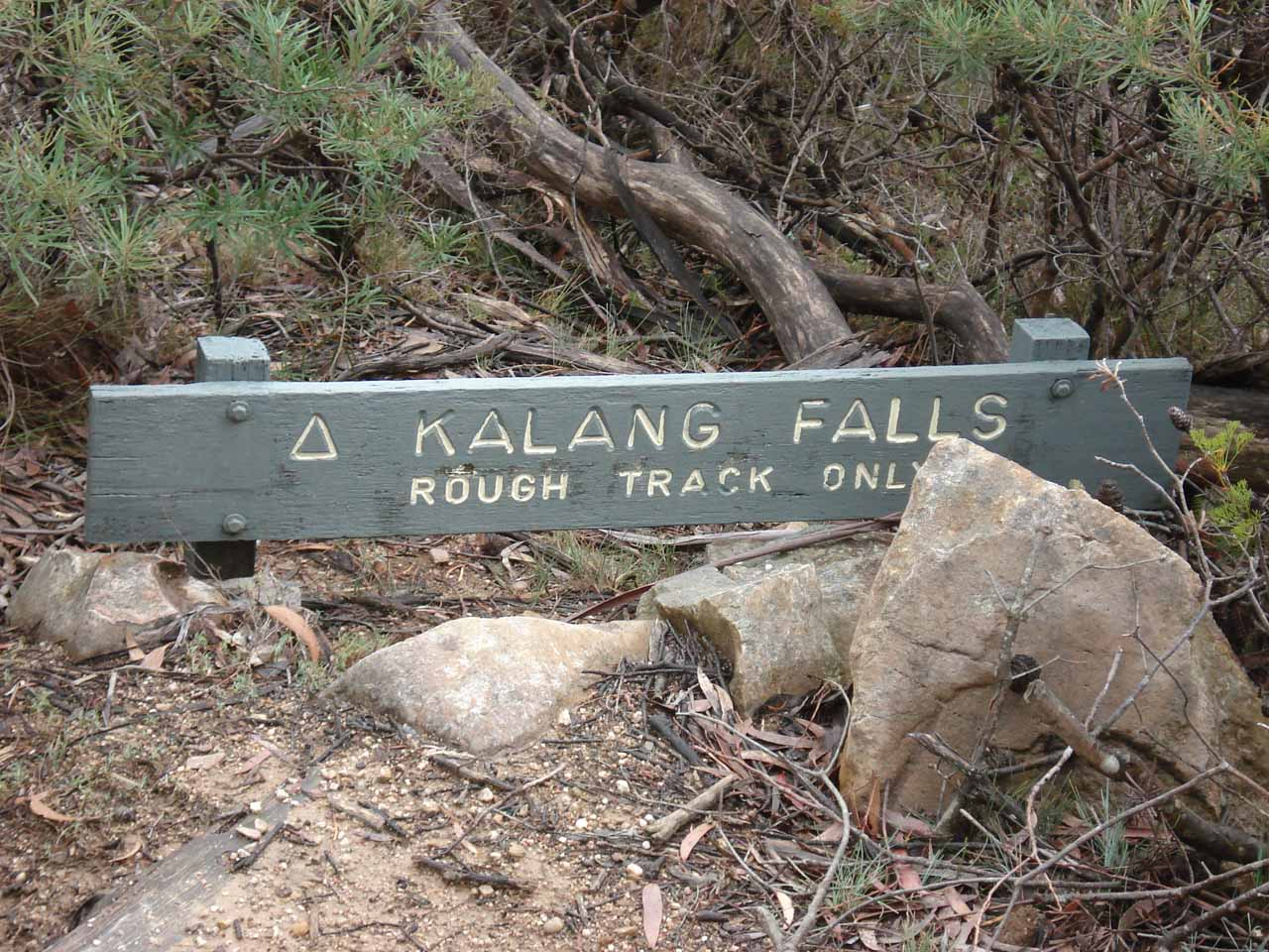 The Kalang Falls sign