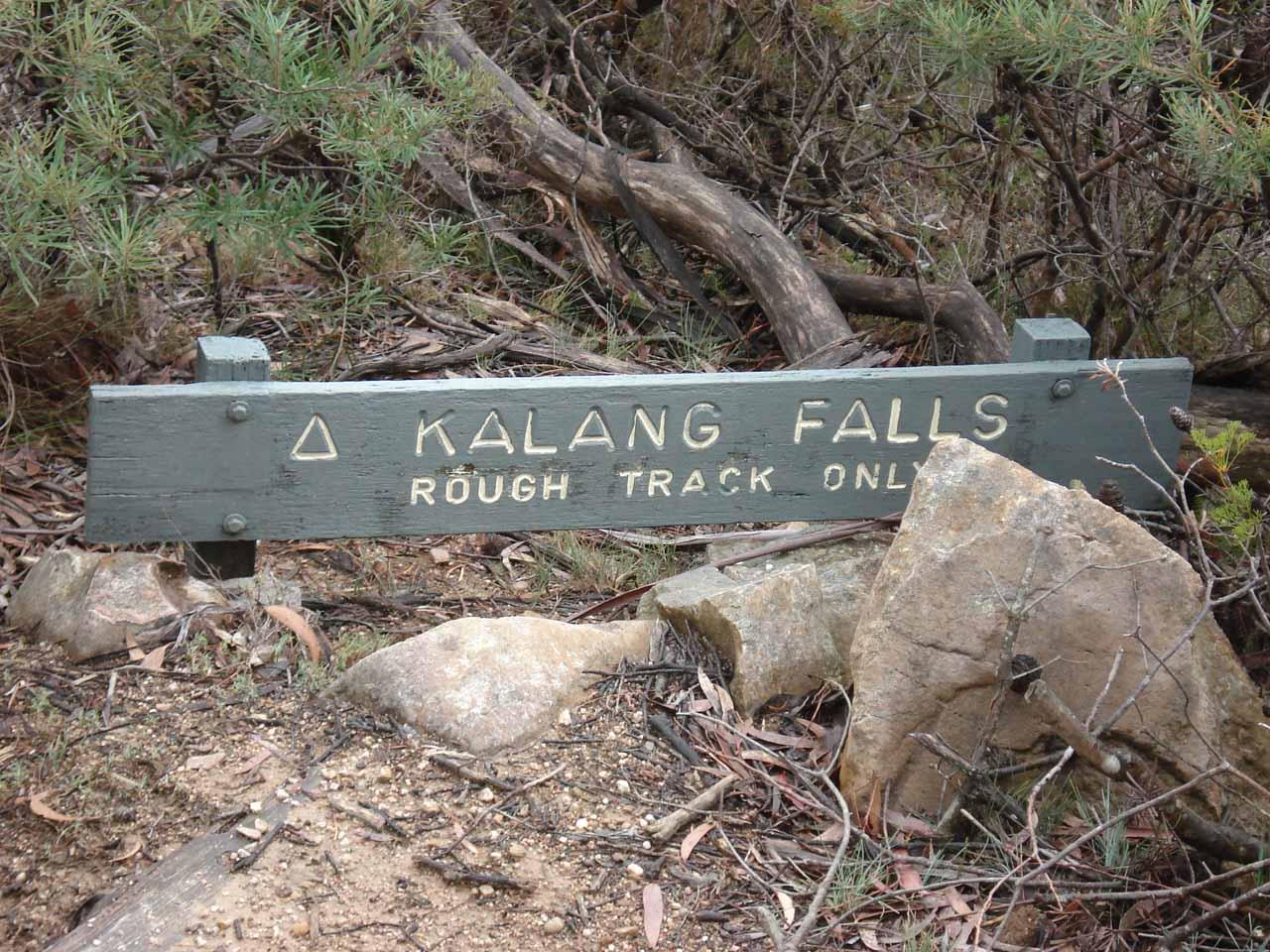 The Kalang Falls sign