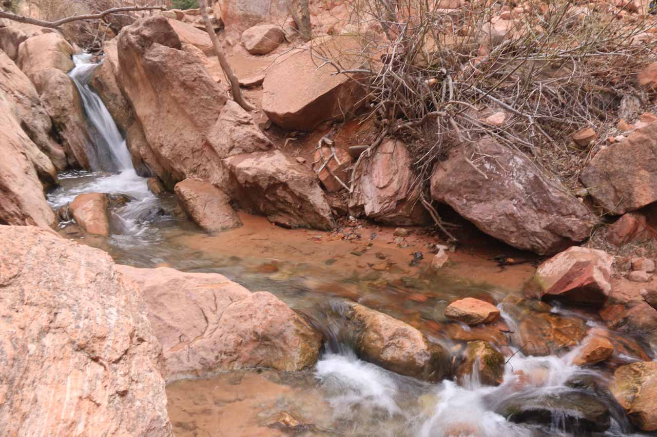 This was probably the first somewhat significant waterfall on Kanarra Creek though I'm sure some people beg to differ