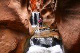 Kanarraville_Falls_272_04052018 - Context of Mom checking out the second ladder at the Kanarraville Falls